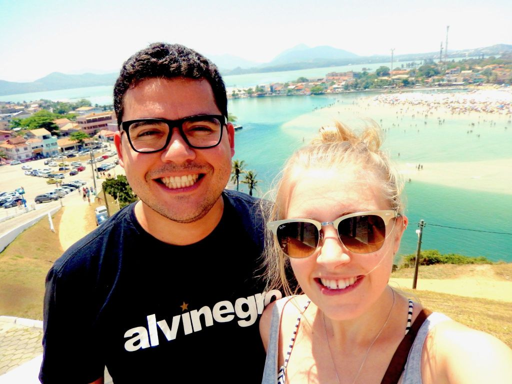 Charlotte and Henrique in Saquarema