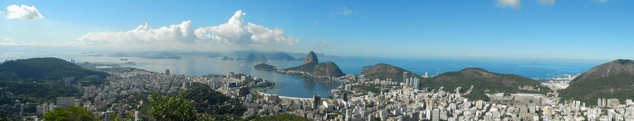 Panoramic of Rio de Janeiro with sugar loaf mountain