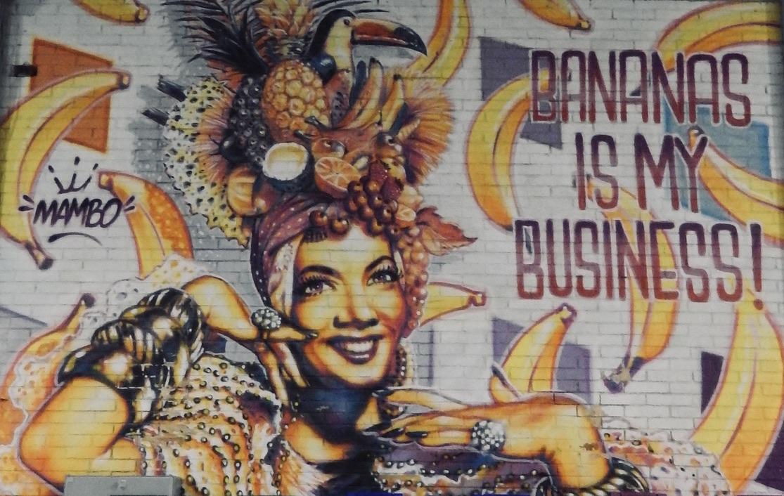 Carmen Miranda a Brazilian woman grafitti