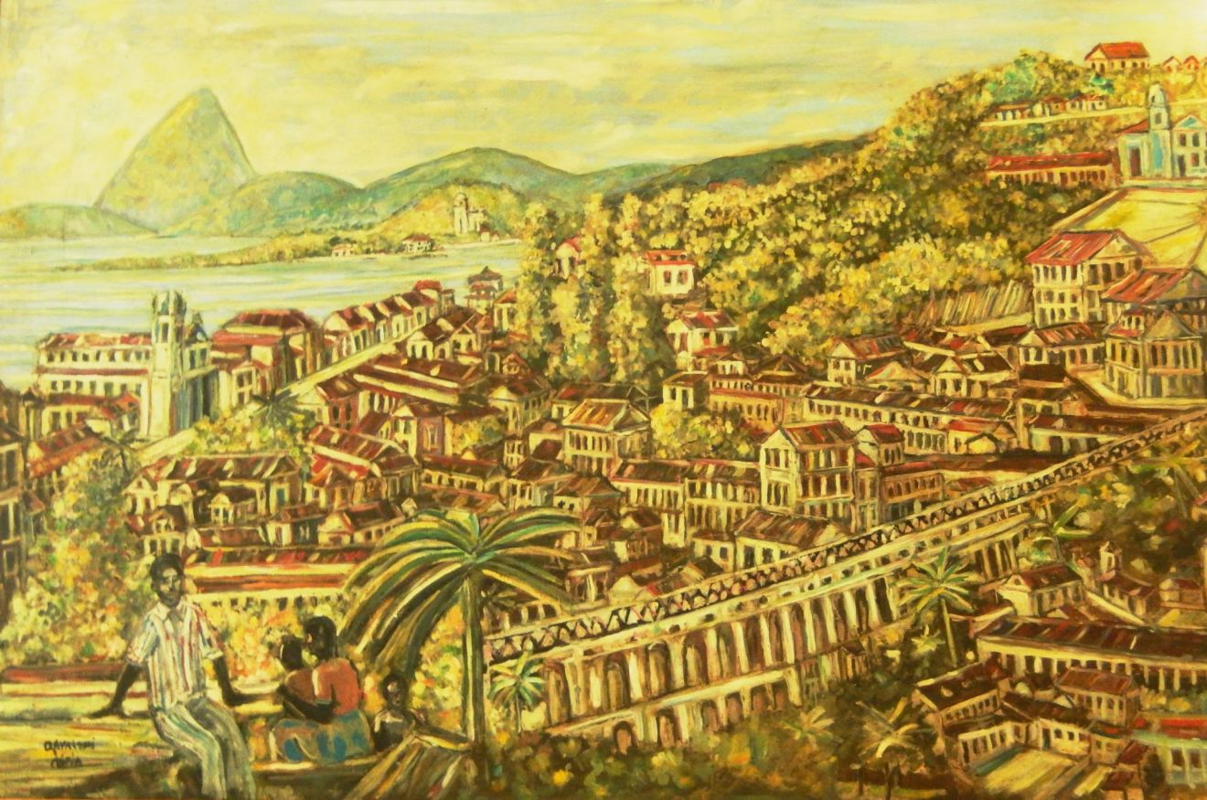 Painting of Rio de Janeiro in the 18th century
