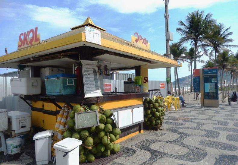 Kiosk no bairro de Ipanema