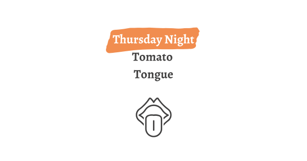 Thursday Night Tomato Tongue Graphic