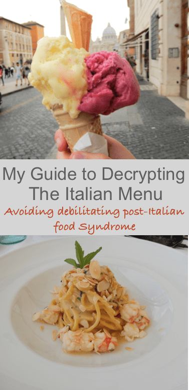 Guide to Decrypting the Italian Menu by Footloose Lemon Juice