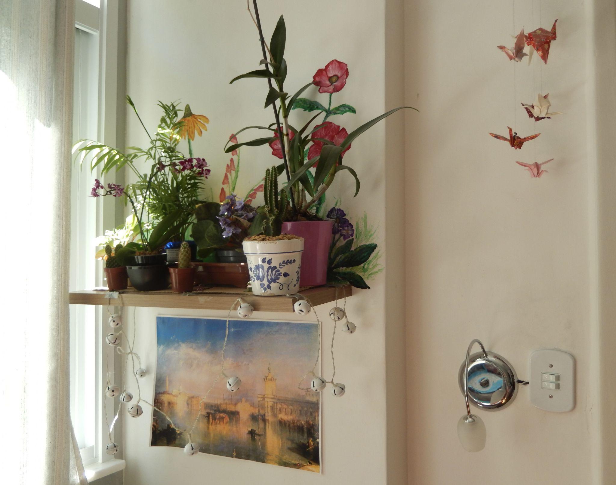 Wall mural in Airbnb rental
