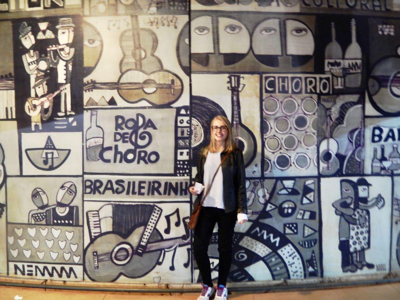 Outside mural of Clube de Choro Brasília
