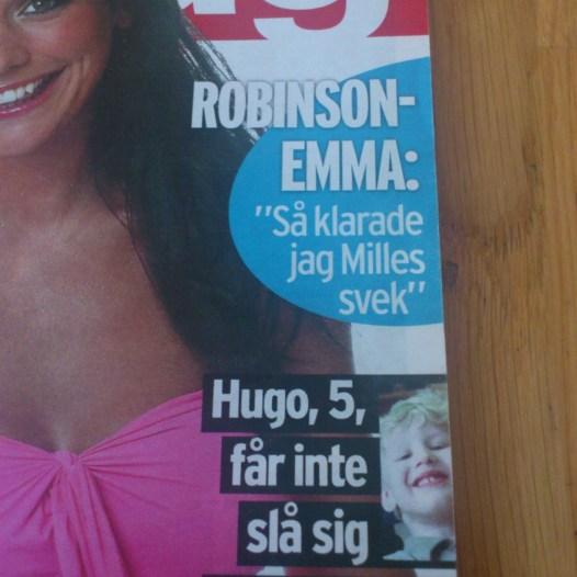 2004. Hugo på framsidan av Aftonbladets Söndagsbilaga.