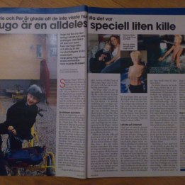 2005. Hugo i veckotidningen Allas.