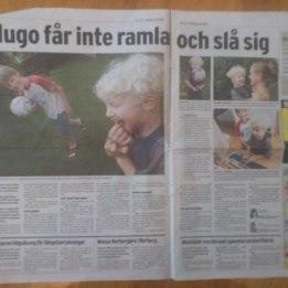 2004. Hugo i tidningen Folket.