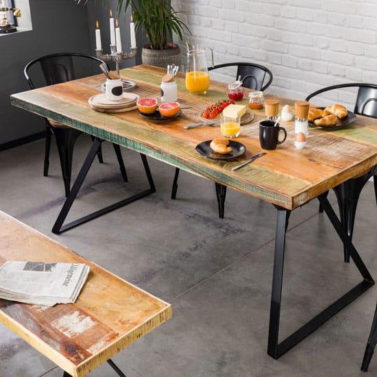 table plateau bois pied metal top 10
