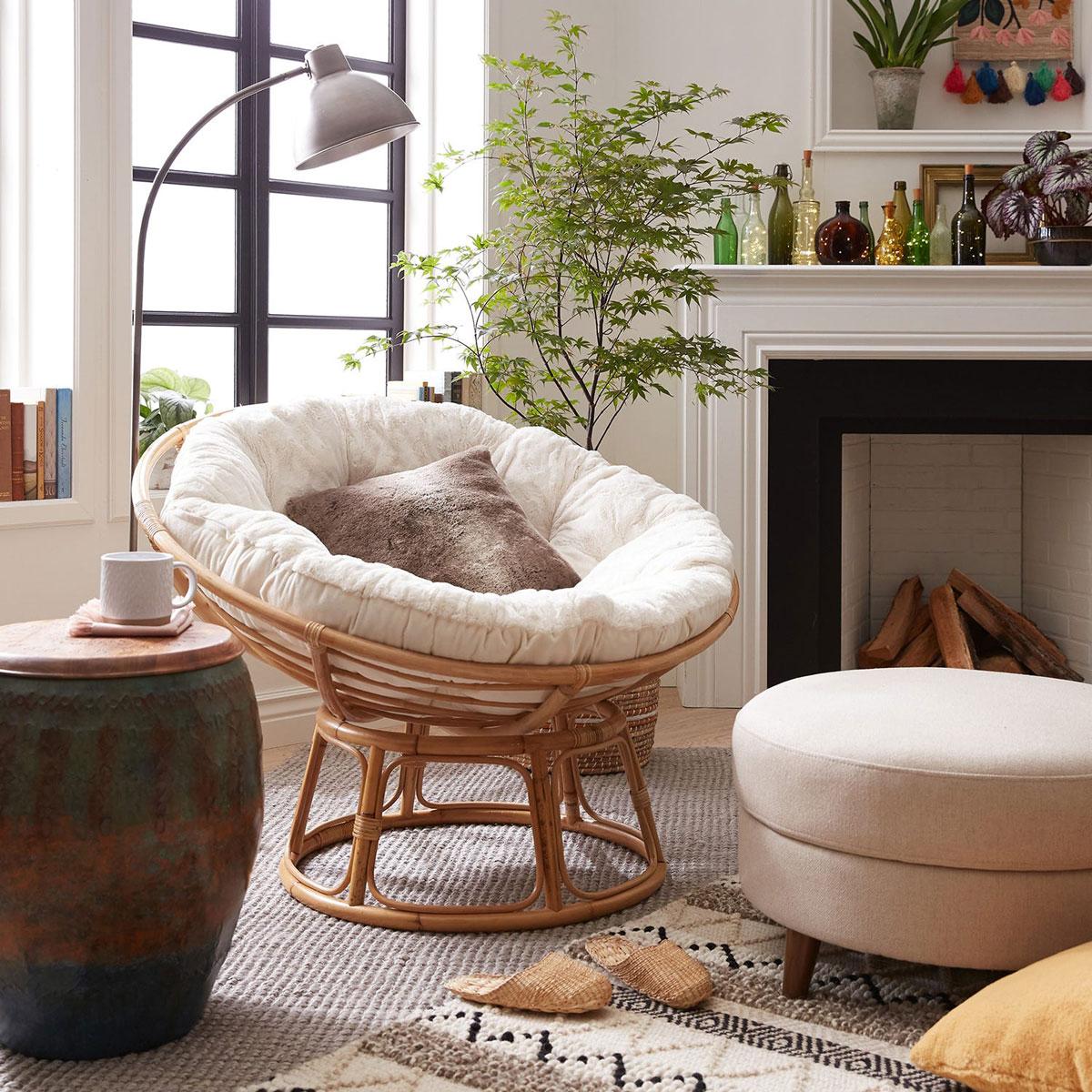 fauteuil papasan 4 modeles pour des moments cocooning a souhait