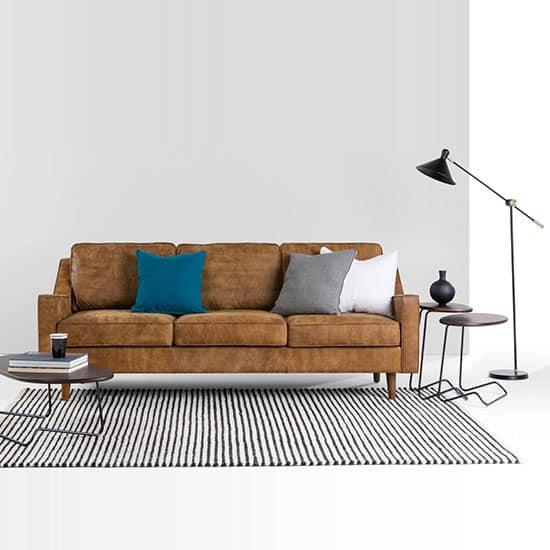 le canape en cuir marron un confort
