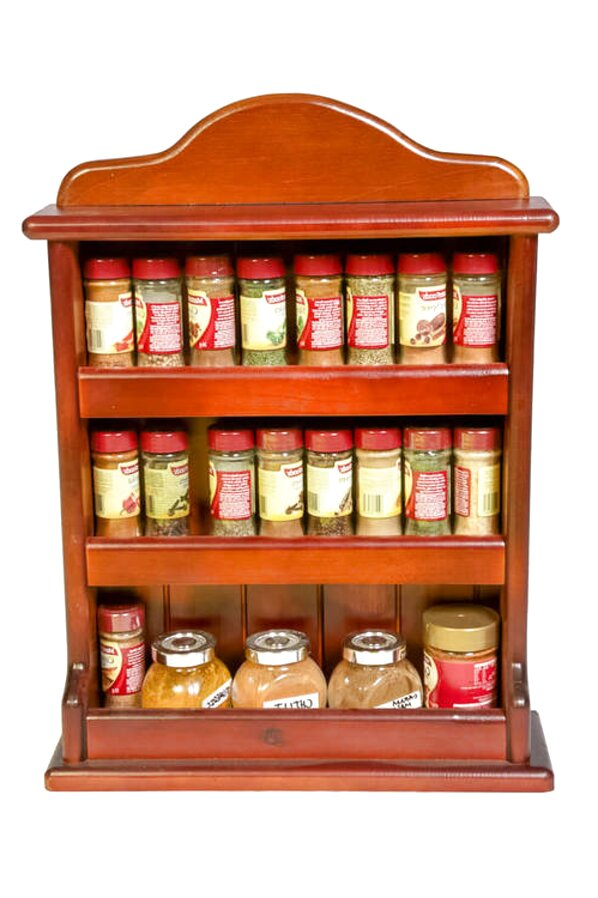 hand wooden spice rack in ireland