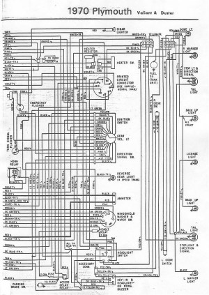 70 and 71 Valiant Duster Wiring Diagram | For A Bodies