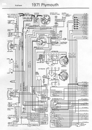 70 and 71 Valiant Duster Wiring Diagram | For A Bodies
