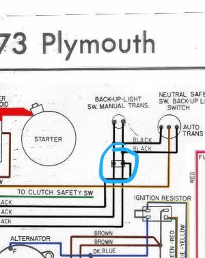 Neutral safety switch harness question specific to 1974