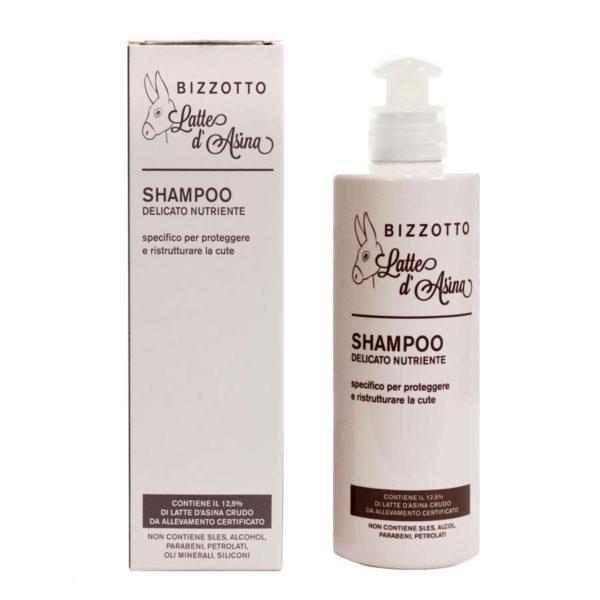 shampoo delicato al latte d'asina