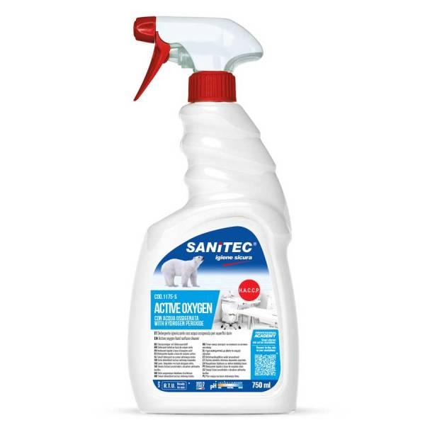 detergente igienizzante a bese di ossigeno attivo per plexiglass in trigger da 750 ml codice 1175-S