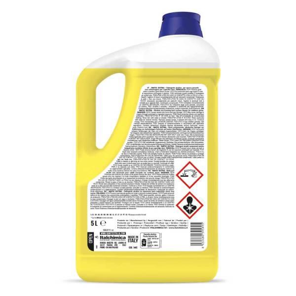 detergente per pavimenti super sgrassante per industrie alimentari e sporco ortinato in tanica da 5 lt matic extra codice 1445