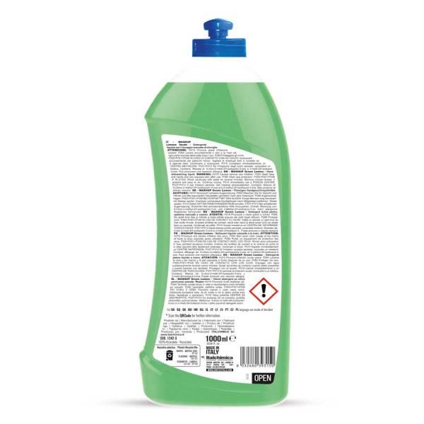 detersivo piatti a manoal limone verde in flacone da 1000 ml codice 1242-S