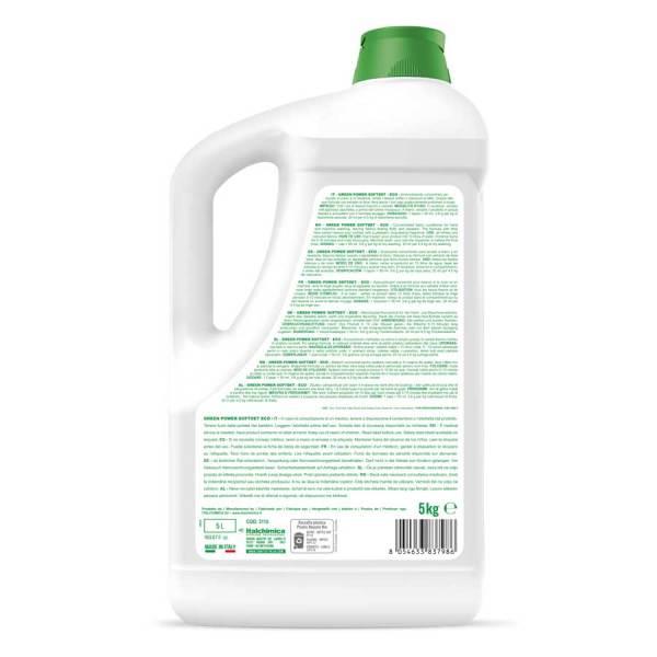 sanitec ammorbidente super concentrato ed ecologico green iquido in tanica da 5 lt softdet green power codice 3110