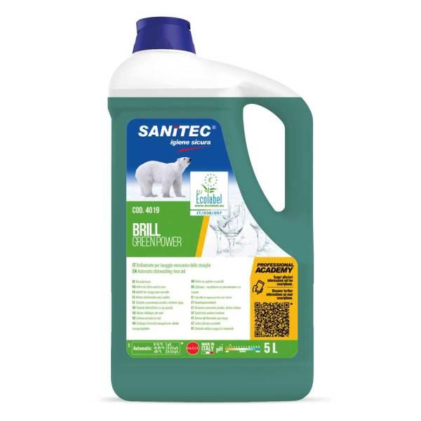 sanitec brillantante ecologico professionale liquido in tanica da 5 lt brill green power codice 4019
