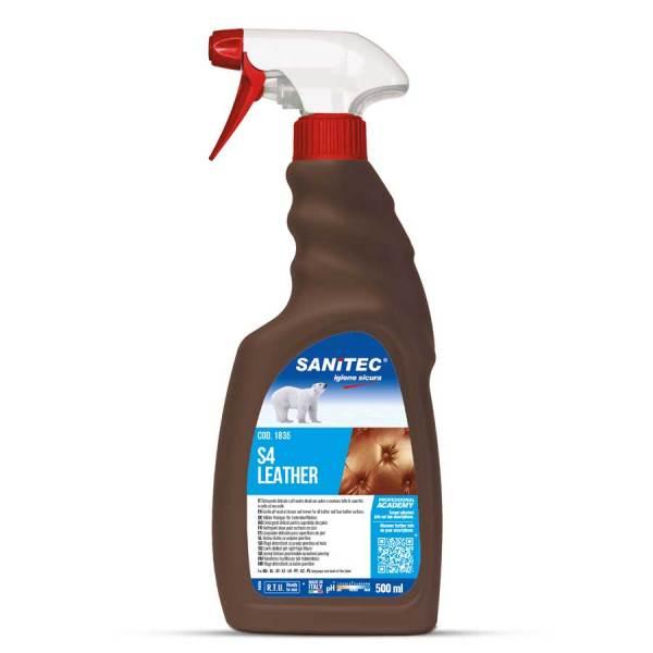 sanitec detergente per pelle ed eco-pelle a ph neutro nutre e ravviva in trigger spray da 500 ml S4 leather codice 1835