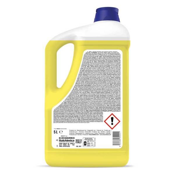 sanitec detergente sgrassante a base di solventi per la pulizia senza risciacquo di segni di penna pennarello indelebile inchiostro timbri graffiti unto e colla per superfici dure H.a.c.c.p. in tanica da 5 lt deink codice 1887