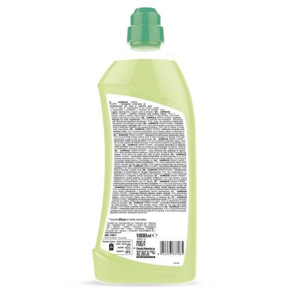 sanitec detergente universale pavimenti ecologico in flacone da 1000ml surface green power codice 3109-S