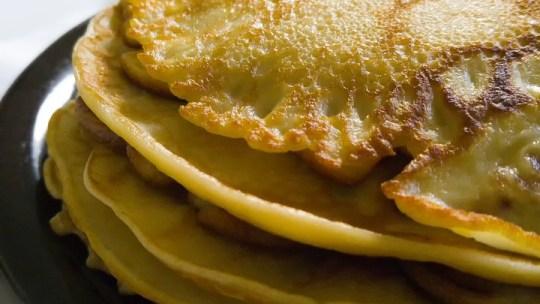 Wild Mushroom Pancakes with Wild Garlic Butter