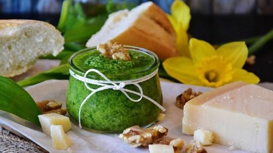 Garlic Mustard Pesto