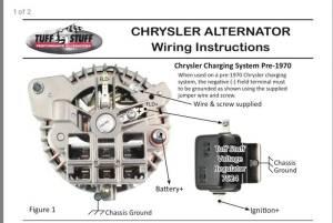 Tuff Stuff One Wire (1wire) Alternator: Install Help Please   For B Bodies Only Classic Mopar Forum