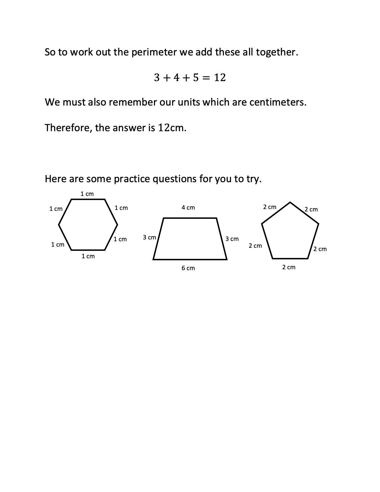 Grade 3 Math Perimeter Of Polygons