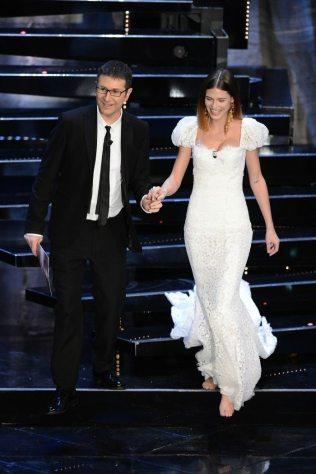 Fabio Fazio e Bianca Balti   © Daniele Venturelli / Getty Images