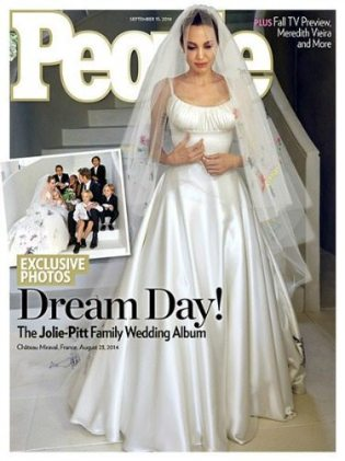 L'abito da sposa di Angelina Jolie | People