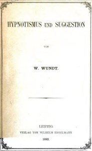 Wundt's 'Hypnotism and Suggestion'