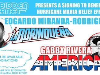 Puerto Rico Puerto Rican Hurricane Maria Relief signing La Borinqueña America Chavez Gabby Rivera