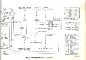 68 Chrysler 300 Engine and headlight motor wiring diagram