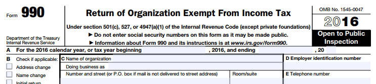 Us Irs Form 990 Force501 Foundation