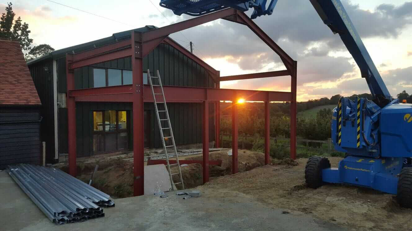Structural Steel Building Extension