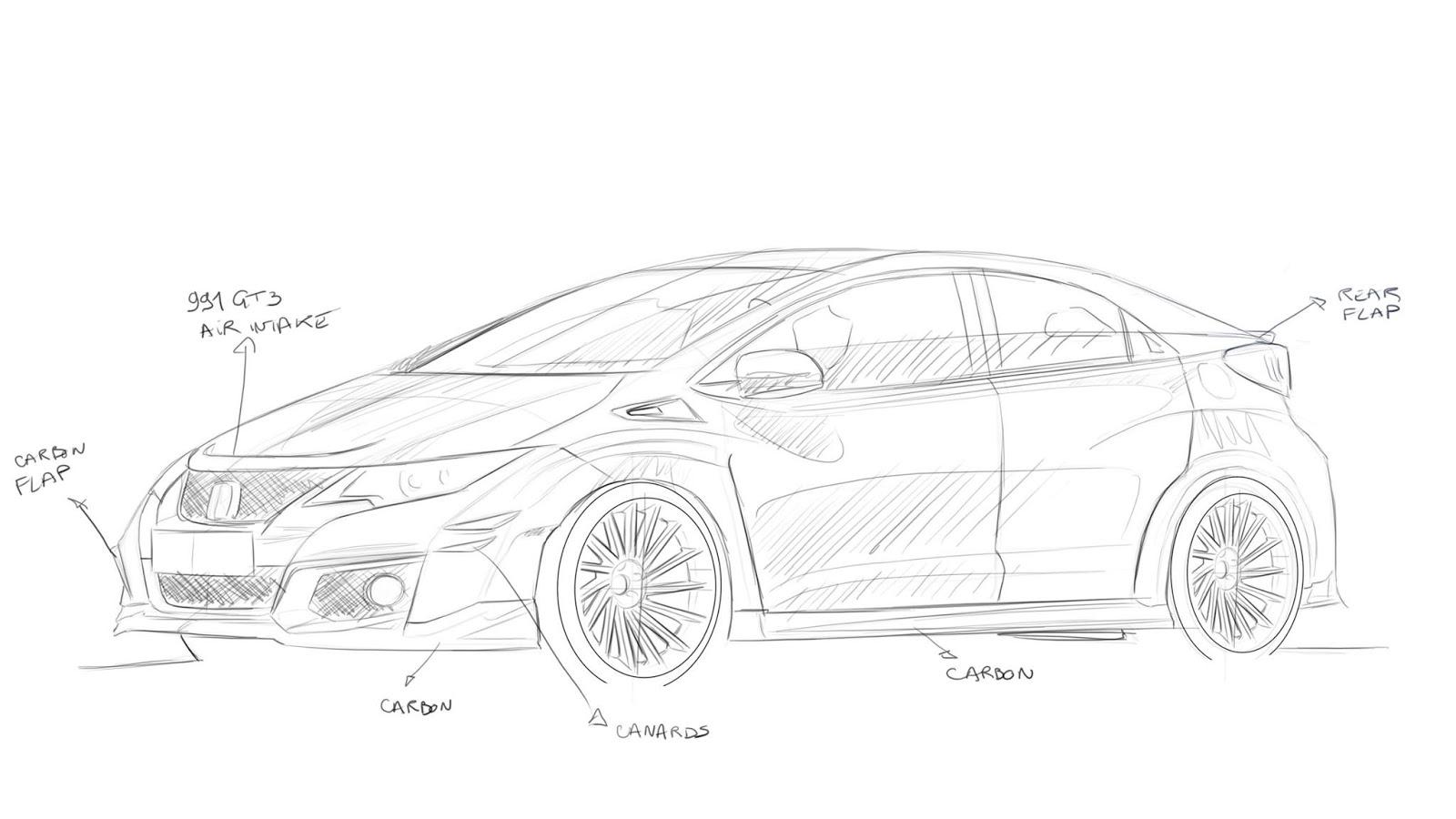 Honda Tuning Revozport Previews Bodykit For Honda Civic