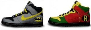 BATMAN AND ROBIN SHOES: The Footwear That Will Never Get You Boned.