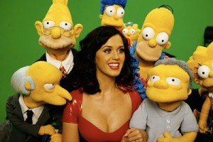 Katy Perry's breasts going to THE SIMPSONS