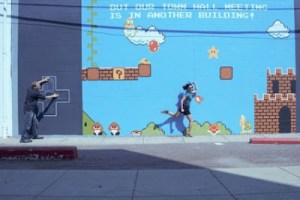 COLLEGE STUDENTS CREATE AN Interactive Super Mario Bros. Mural Proving That With Enough Mountain Dew Anything Is Possible