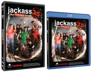 More JACKASS!  JACKASS 3.5 THE UNRATED MOVIE Comes to DVD & BLU-RAY!
