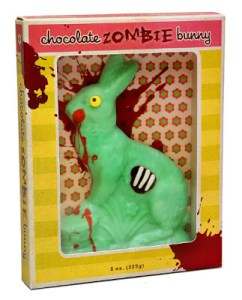 THIS EASTER CELEBRATE THE SEASON OF RENEWAL BY SINKING YOUR TEETH INTO A CHOCOLATE ZOMBIE BUNNY.