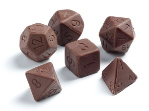CHOCOLATE MULTI-SIDED DICE Will Give You +1 Deliciousness During Your All-Night Gaming Nerdathon