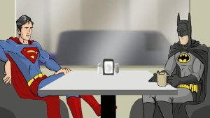 BATMAN AND SUPERMAN Calmly Discuss Their Upcoming Movie…In Total Nerd Fashion