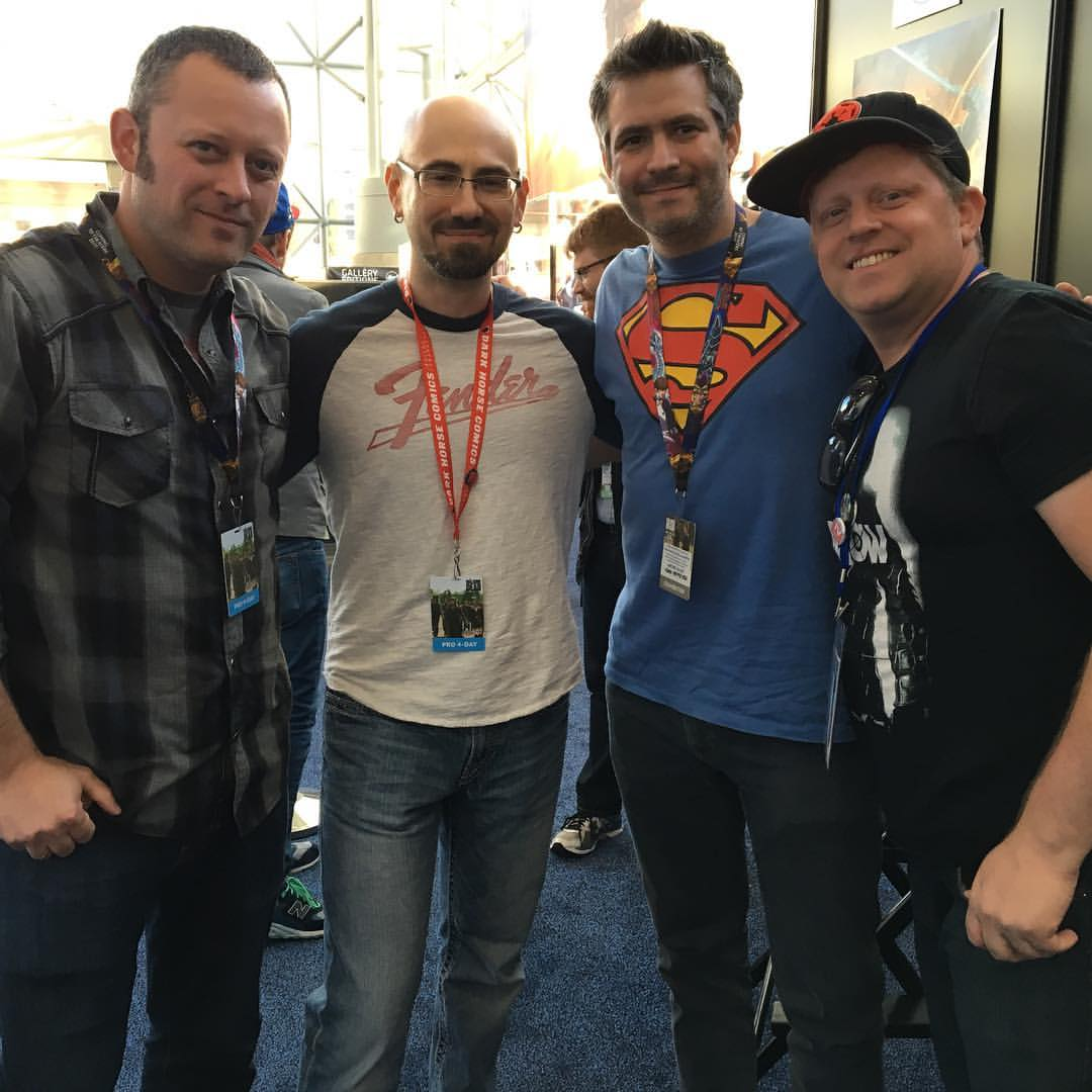 Ben, Nate, and Juan with FOG!'s Clay N Ferno
