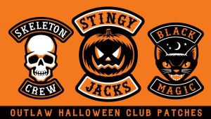 Kickstart 'Hallows Angels: Halloween Biker' Patches Set!