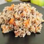 Wild rice e zucca, un riso integrale con il frutto di stagione